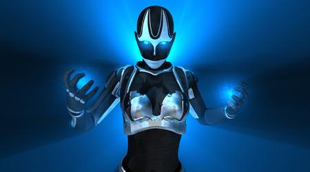 Cyborg character Standard-Bild