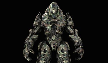 mech: Futuristic war machine Stock Photo