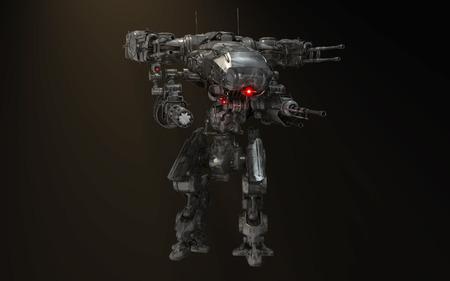 mech: futuristic robot mech