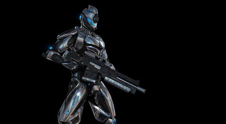 Futuristic super soldier Reklamní fotografie