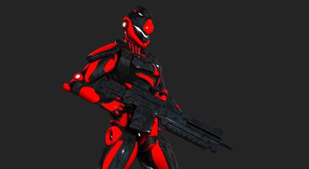 Advanced super soldier Stock Photo