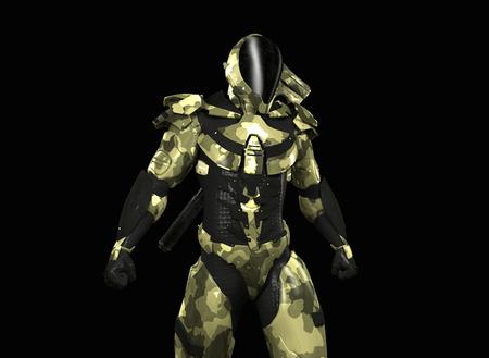 cyber warfare: Advanced super soldier Stock Photo