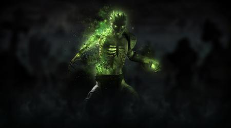 Zombie necromancer character Stock Photo