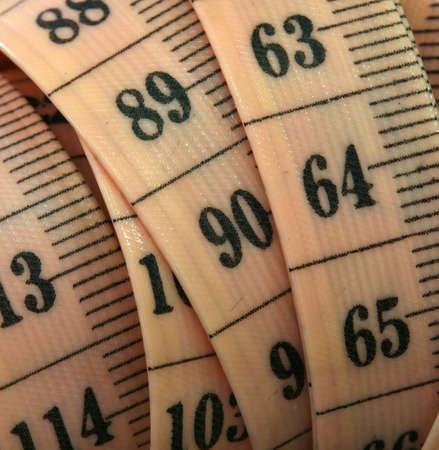 Flexible measuring tape for tailoring.
