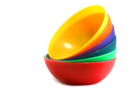A set of colourful bowls. Stock Photo