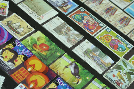 Collection of Singapore Stamps.