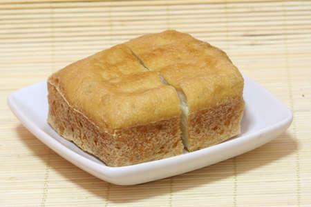Deep fried beancurd. Stock Photo