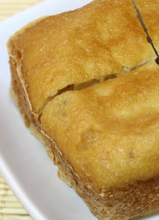 beancurd: Deep fried beancurd. Stock Photo