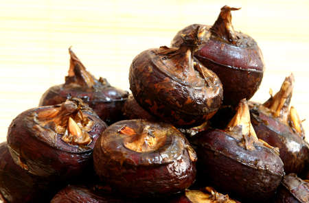 Water chestnuts from the local market.
