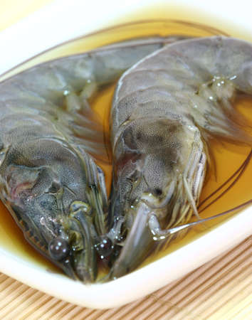 Drunken prawns. Stock Photo