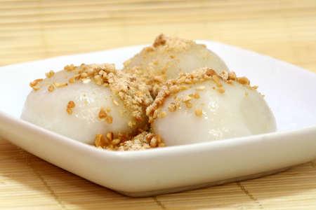 Glutinous rice balls.