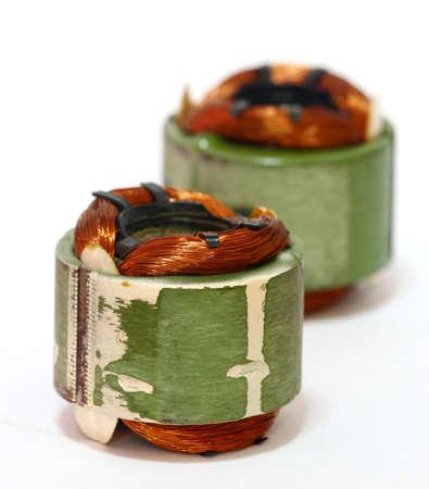 Motor coils.