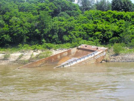 abandoned: Abandoned Barge Stock Photo