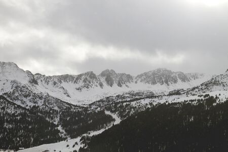Winter landscape in Andorra mountains