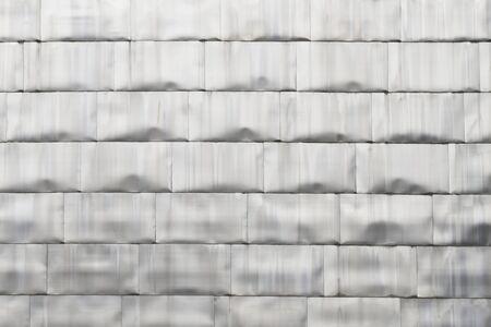 Detail of titanium modern wall