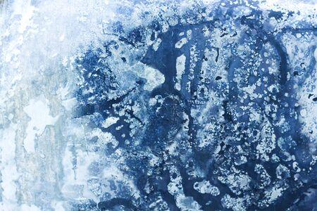Blue grungy metallic sheet texture