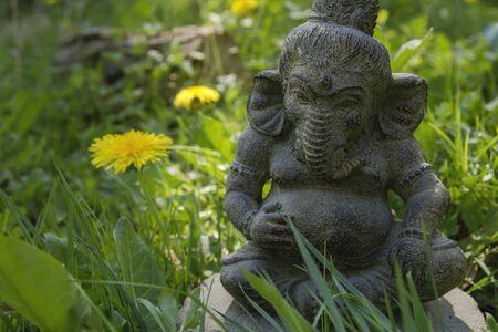 Lord Ganesh decorative stone statue Banco de Imagens