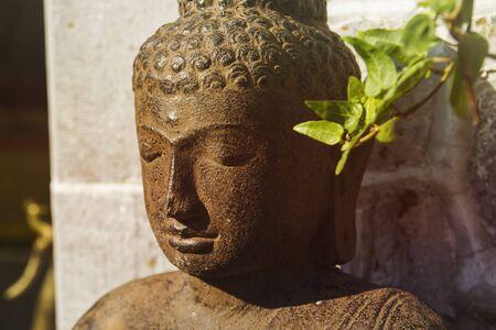 Gautama buddha decorative stone statue Banco de Imagens