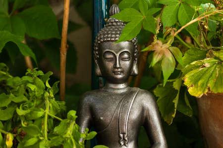 Buddha decorative statue in the garden Banco de Imagens