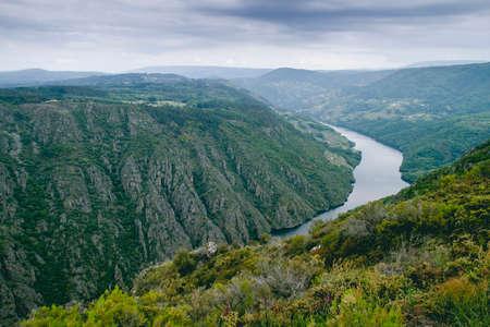 Sil river canyon in Galicia, Spain Archivio Fotografico