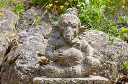 Ganesh deity decorative stone statue