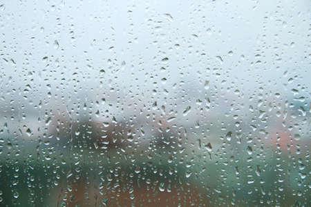 Raindrops on a window Standard-Bild