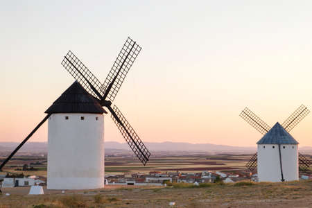 Old traditional windmills in Campo de Criptana, Spain