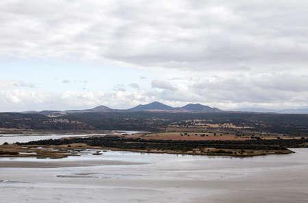 Tagus river basin in Toledo, Spain Stock fotó