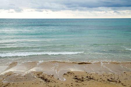 A beach in a rainy day Reklamní fotografie