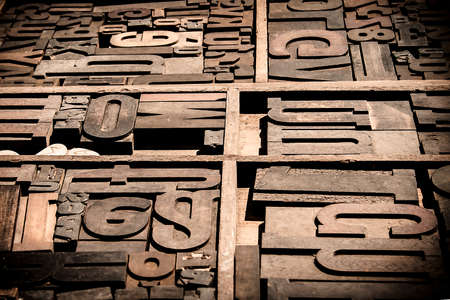 Old movable wooden types