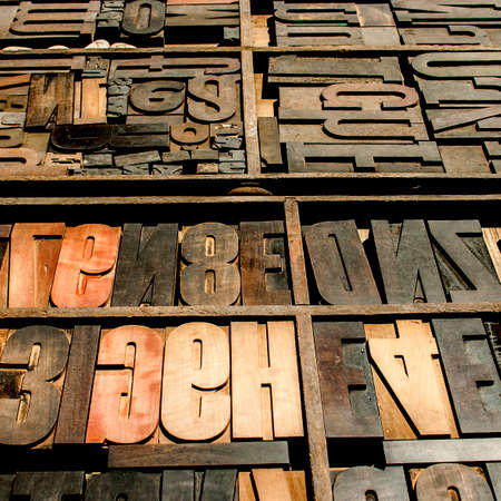 Old wooden types
