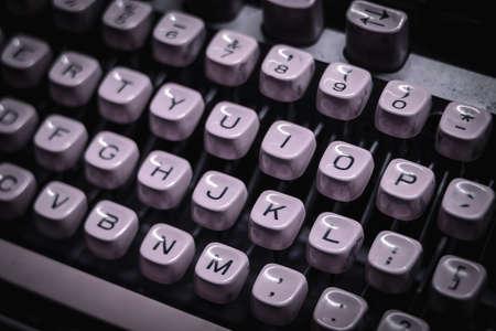 Old vintage typewriter close up Foto de archivo