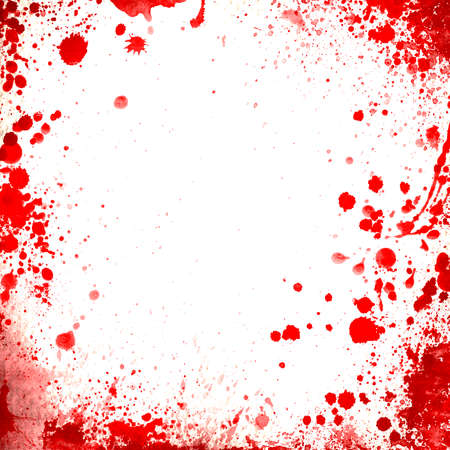 Blood stains on a paper