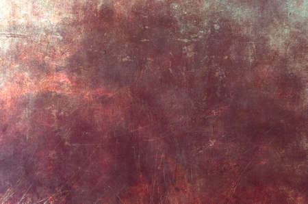 Red scraped grungy wall backdrop or texture