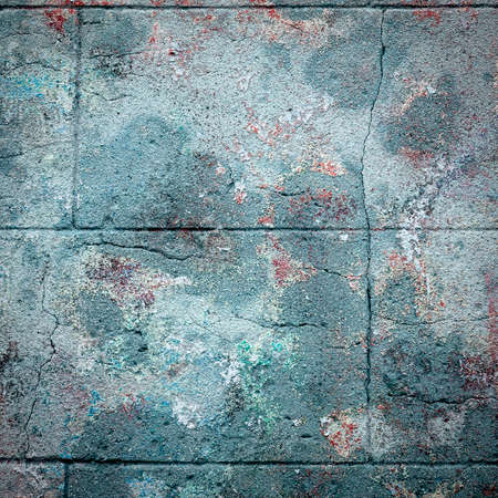 Old wall with peeling paint, grungy background or texture Stock Photo