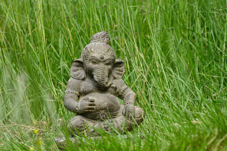 Lord Ganesh decorative stone statue in the garden
