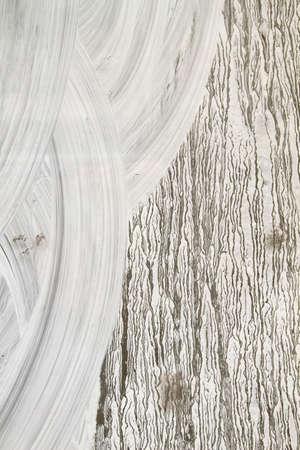 White paint on close shop window Banque d'images