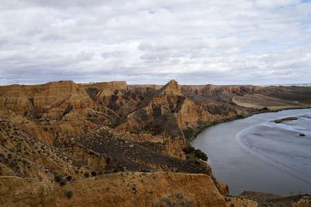 Sedinmetary landscape in Barrancas de Burujon, Toledo, Spain Stock fotó