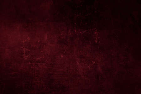 Dark red grungy wall background or texture