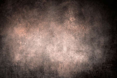 Old scraped wall background with dark vignette borders