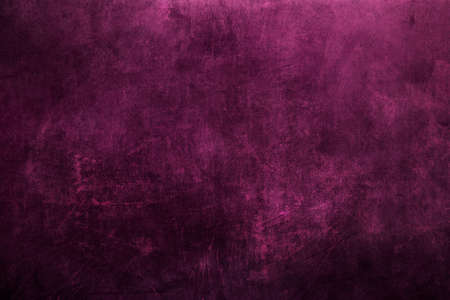 Dark magenta colored scratched metal grunge background or texture Stock Photo