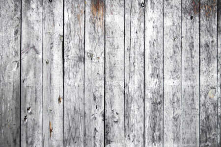 Old white painted wooden planks wall background