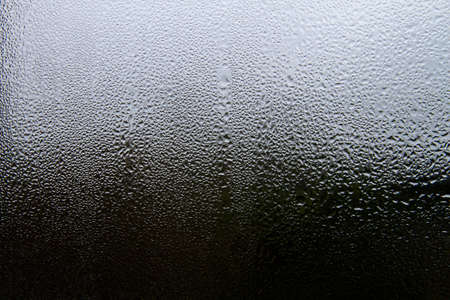 Water condensation on a window glass