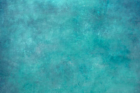 Turquoise grungy wall backdrop or texture