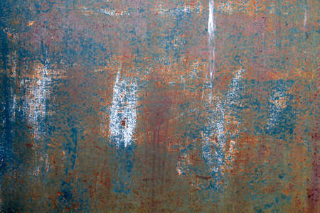 Old worn corroded metal sheet grunge background or texture Banque d'images