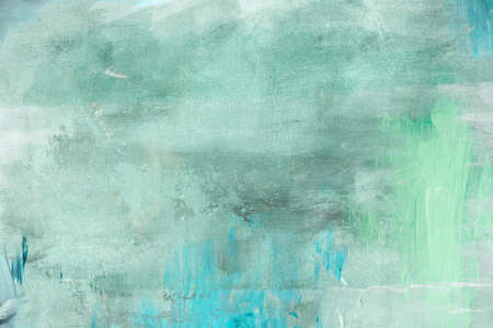 Green abstract painting background or texture