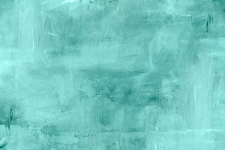 Aquamarine color abstract painting background or texture