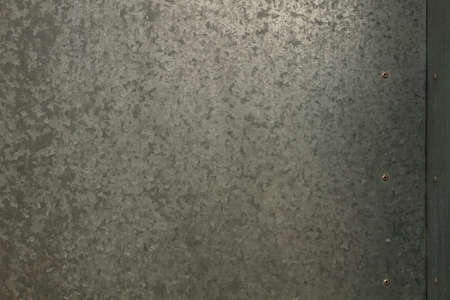 Corrugated steel metal wall, grunge background or texture