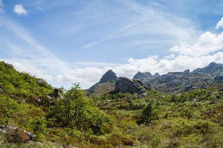 Landsacape in Serra do Xurés-Baixa Limia natural parkland, Galicia, Spain