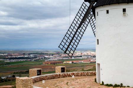 Traditional tower mill in Alcazar de San Juan, Castilla La Mancha, Spain